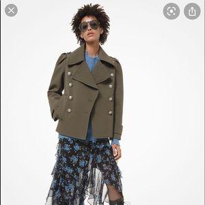 Michael Kors wool pea coat military coat jacket